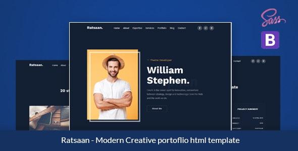 Ratsaan - Creative portfolio template - Portfolio Creative