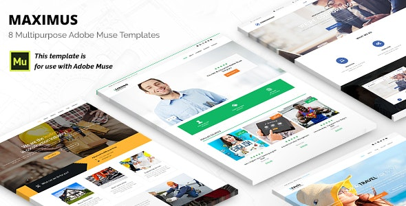 Maximus | Responsive Multi-Purpose Adobe Muse Template - Corporate Muse Templates