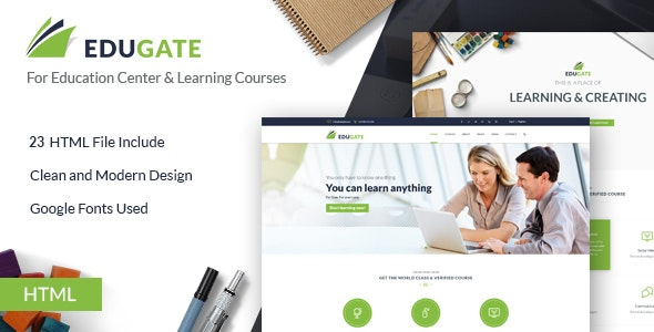 Education HTML Template | EduGate - Business Corporate