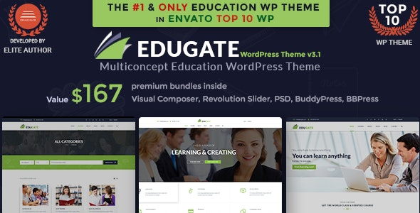 Education WordPress | Edugate by TheRubikThemes | ThemeForest
