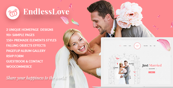 Wedding WordPress | EndlessLove - Wedding WordPress
