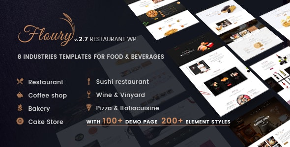 Restaurant WordPress | Floury - Restaurants & Cafes Entertainment