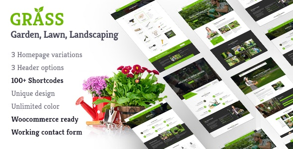 Landscape Garden WordPress | Grass - Business Corporate