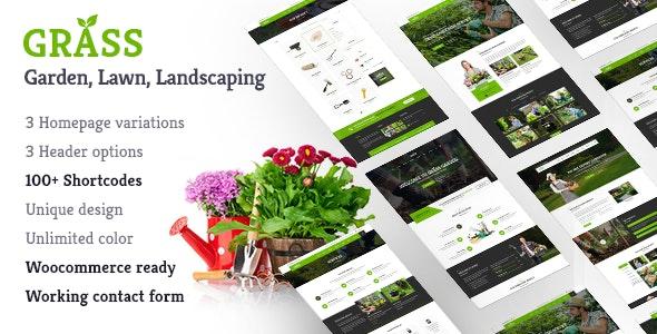 Landscape Garden WordPress   Grass - Business Corporate