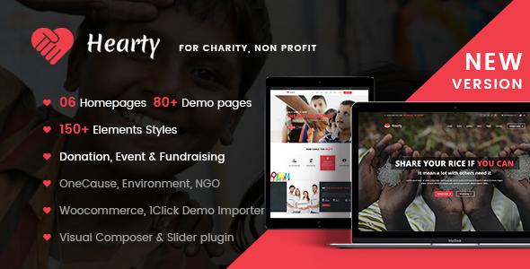 Charity Nonprofit WordPress   Hearty - Charity Nonprofit
