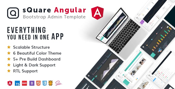 sQuareAngular - Ultimate Responsive Admin Dashboard Template - Admin Templates Site Templates