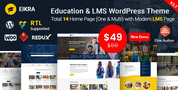 Eikra - Education WordPress Theme by RadiusTheme | ThemeForest