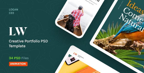 Lewis - A Distinctive PSD Template for Portfolio Showcase - Portfolio Creative
