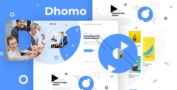 Dhomo - Agency One Page PSD Template - Corporate PSD Templates