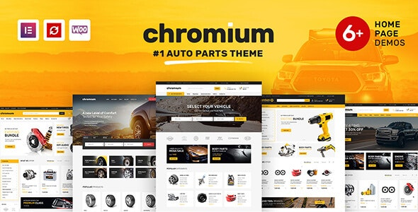 Chromium - Auto Parts Shop WordPress WooCommerce Theme - WooCommerce eCommerce