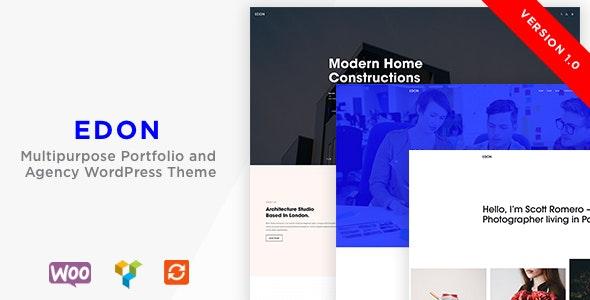 Edon - Multipurpose Portfolio & Agency  WordPress Theme - Portfolio Creative