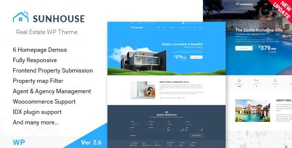Real Estate WordPress | Sun House - Real Estate WordPress
