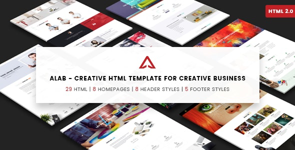 Alab - Creative Agency Template - Creative Site Templates