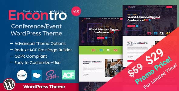 Encontro - Conference & Meetup Event WordPress Theme - Events Entertainment