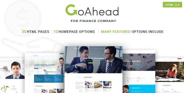 Finance Startup Template | GoAhead - Business Corporate