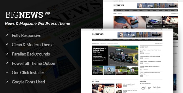 Newspaper & Magazine WordPress | BigNews - Blog / Magazine WordPress