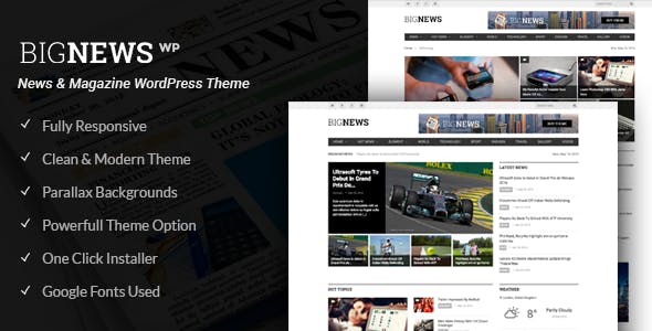 Newspaper & Magazine WordPress | BigNews
