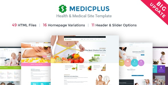 Health Medical Template | MedicPlus - Health & Beauty Retail