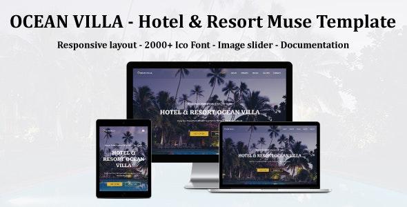 OCEAN VILLA - Hotel & Resort Muse Template - Miscellaneous Muse Templates