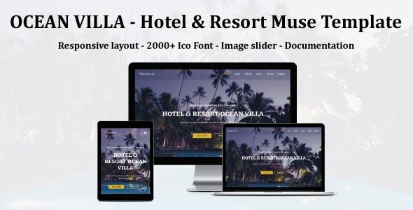 Download OCEAN VILLA - Hotel & Resort Muse Template