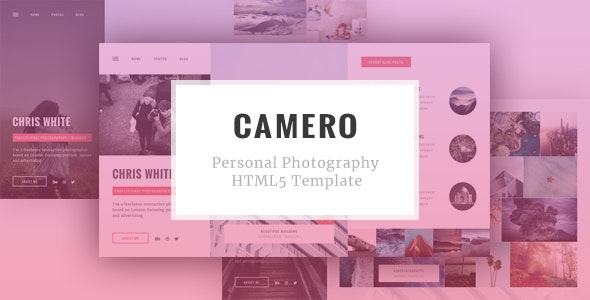 CAMERO - Personal Photography HTML5 Template - Photography Creative