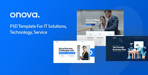 Onova - IT Solutions and Services Company PSD Template - Business Corporate