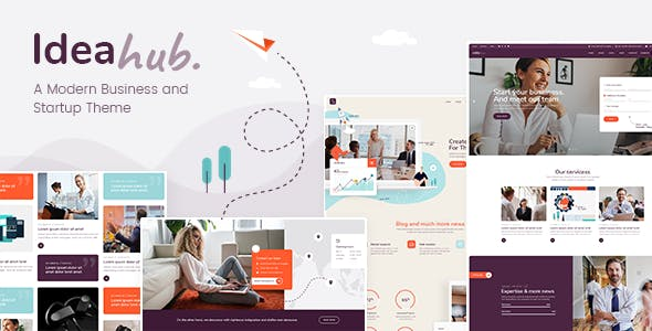 Ideahub - Modern Business and Startup Theme nulled theme download