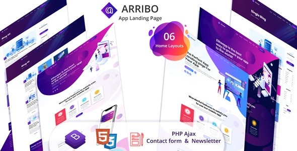 Arribo - App Landing Page - Marketing Corporate