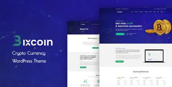 Bixcoin : WordPress theme for Cryptocurrency - Business Corporate
