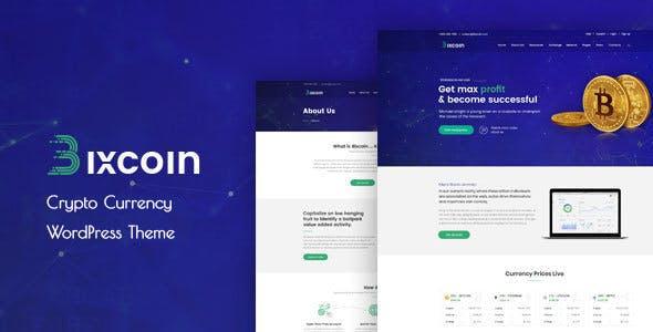 Bixcoin : WordPress theme for Cryptocurrency