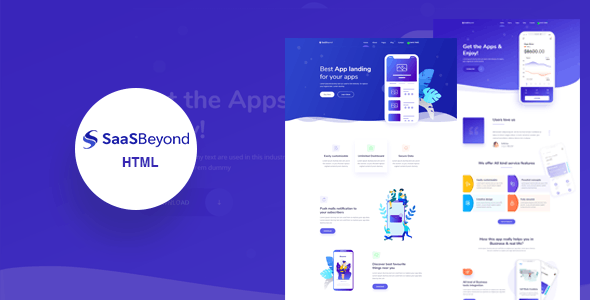 SassBeyond v1.0 – Sass & Software Landing Page Template