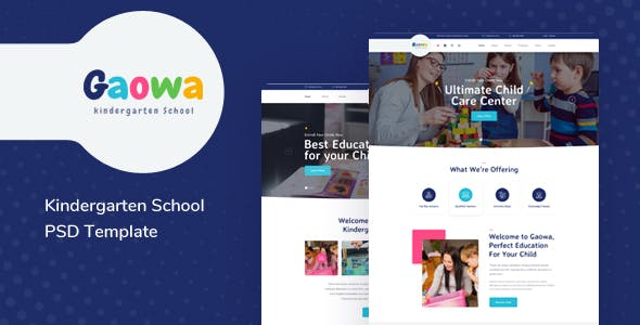 Gaowa - Kindergarten School PSD Template