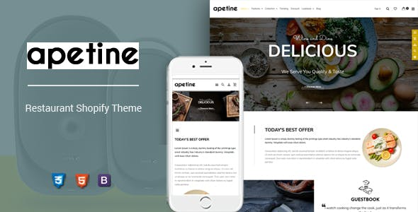 Apetine - Responsive Food & Restaurant Shopify nulled theme download