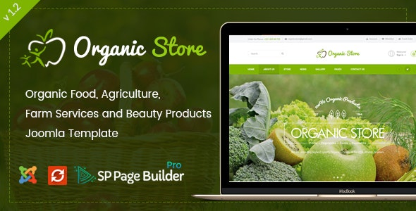 Organic Store - Responsive Joomla Ecommerce Template by