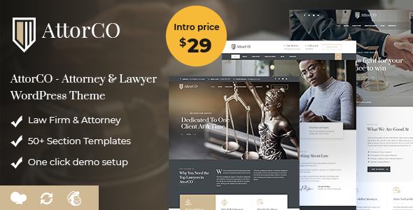 AttorCO - Attorney & Lawyer  WordPress Theme - Business Corporate