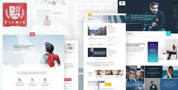 Picwik - University, Education HTML Landing Page - Corporate Site Templates