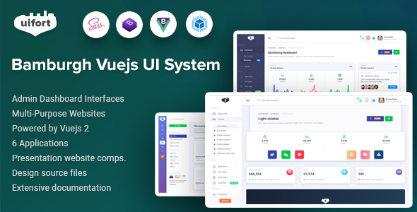 Bamburgh - Vuejs Admin Dashboard & UI Kit & Multi-Purpose Websites Template - Admin Templates Site Templates