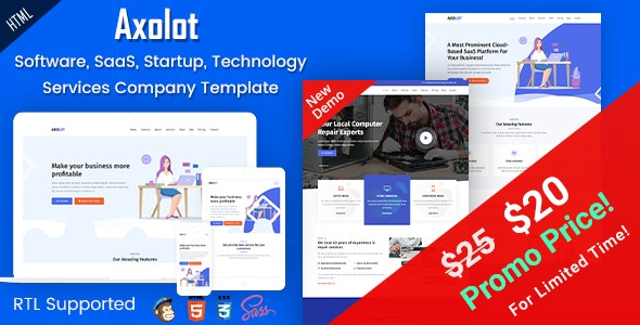 Axolot - IT Solutions & Digital Services Company HTML Template - Business Corporate