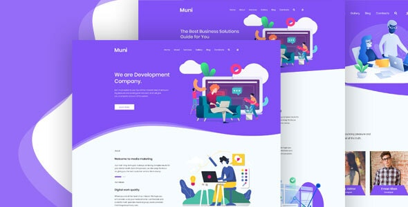 Muni – Business & Agency PSD Template - Business Corporate