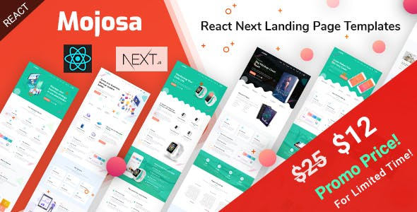 Mojosa - React Next Landing Page Templates nulled theme download