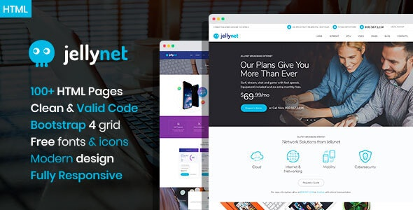 JellyNet - ISP/Tech Startup HTML Template - Technology Site Templates