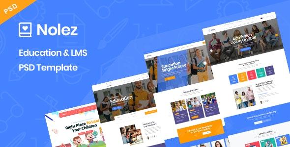 Nolez - Education & LMS PSD Template - Miscellaneous PSD Templates
