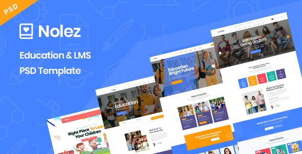 Nolez - Education & LMS PSD Template