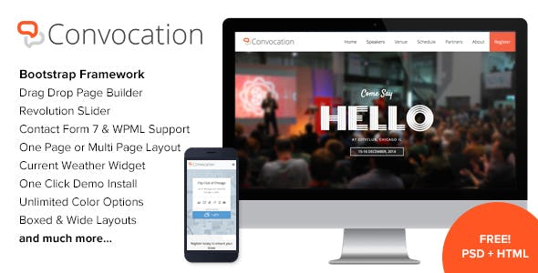 Convocation - Event and Conference WordPress Theme