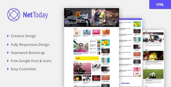 NetToday - Newspaper & Magazine HTML Template - Creative Site Templates