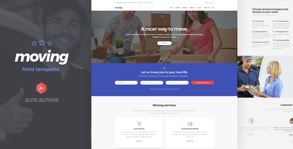 Moving - Logistic HTML5 Template - Business Corporate
