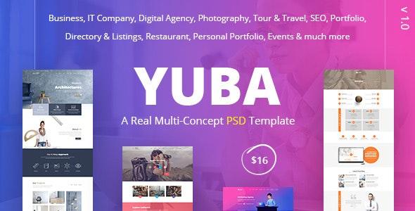 Yuba - A Real Multi-Concept PSD Template - Creative PSD Templates