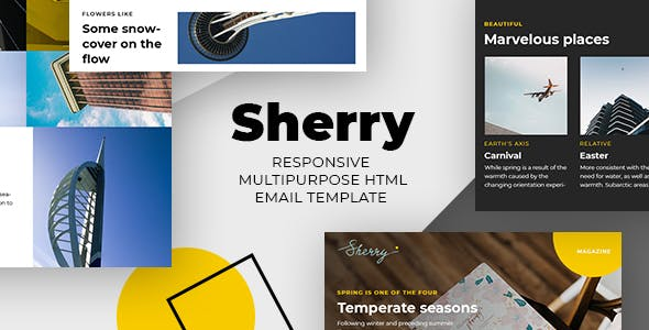 Sherry – Responsive Email + StampReady, MailChimp & CampaignMonitor Compatible Files