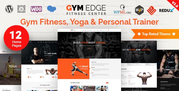 Gym Edge - Fitness WordPress Theme - Health & Beauty Retail