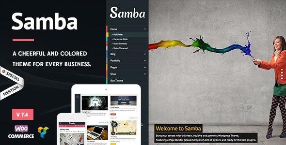 Samba - Colored WordPress Theme - Creative WordPress